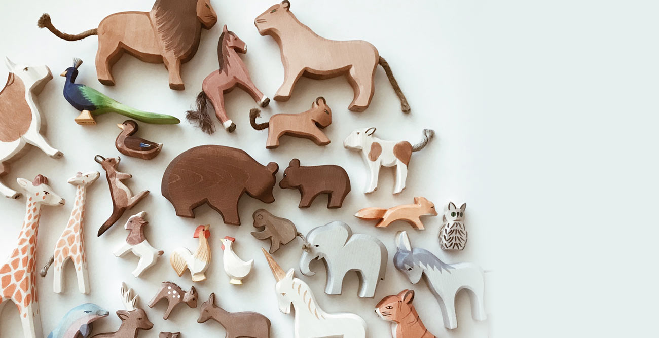 Handcrafted Wood Animals